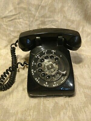 Vintage Black Rotary Phone Property Of New York Telephone Company Bell Systems
