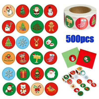 500Pcs/Roll Merry Christmas Stickers Envelope Presents, Gifts Seal Xmas Labels