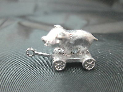 Dollhouse Miniature Unfinished Metal Pull Toy Duck