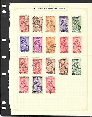 1949 R,S,W, Low Value Stamps