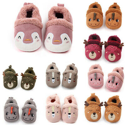 Toddler Newborn Baby Crawling Shoes Boy Girl Lamb Slippers Prewalker Trainers