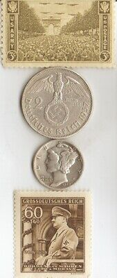 """-*antique *WW2-SILVER(.900%+.625%)-*us and *german coins/STAMPS +*king """"TUT""""coin"""