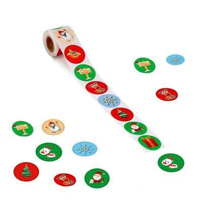 500 Merry Christmas Stickers Labels Decorating Present Seals 25mm Xmas Envelope