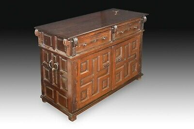 Commode (taquillón). Walnut, wrought iron. Spain, 17th century.