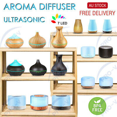Aromatherapy Diffuser Humidifier Air Purifier LED Aroma Ultrasonic Essential Oil