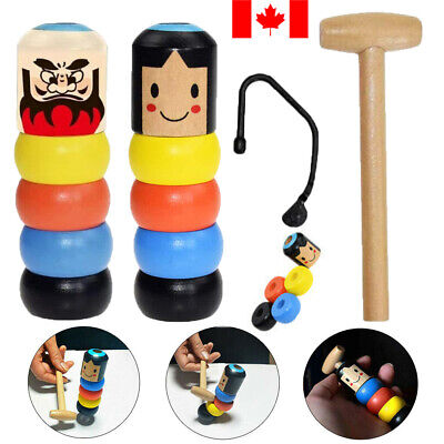Magic Toy Unbreakable Wooden Man For Boys Girls Baby Kids CA