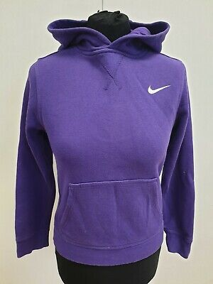 E96 Boys Girls Nike Purple Pullover Tracksuit Hoodie Uk M Age 11-12 Years