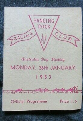 1953 Hanging Rock Racing Club Australia Day Meeting Official Programme Booklet.