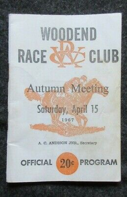 1967 Woodend Horse Racing Club Autumn Meeting Official Program Booklet