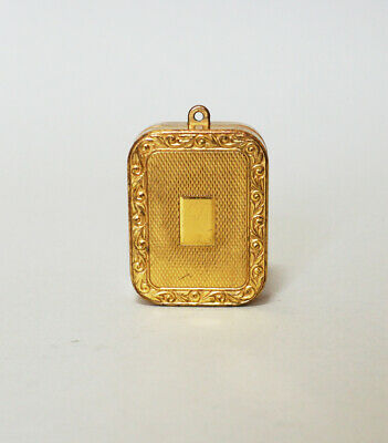 Vintage Reuge Swiss Made Ste Croix Music Box Pendant Gold Necklace