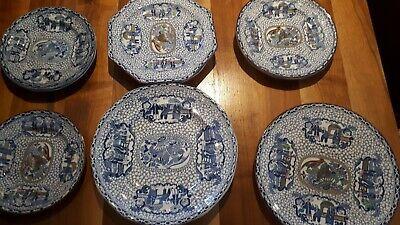 Lovely Antique Blue and white Chinese Bird  William Adams plate collection