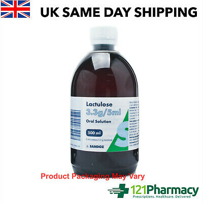 Lactulose Solution Syrup - 300ml - 500ml Laxative for the relief of Constipation