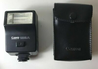 Canon Speedlite 188A Shoe Mount Flash with case Tested and Working