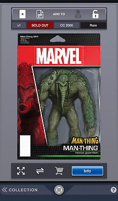 Topps Marvel Collect Digital Action! Series 1 Man-Thing 001 nexus guardian