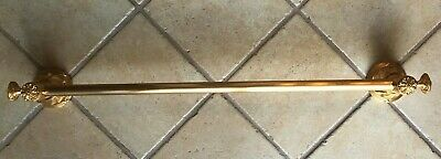 Sherle Wagner 24k Gold Plated Towel Bar