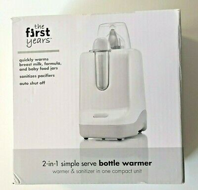 The First Years 2-in-1 Simple Serve Bottle Warmer & pacifier sanitizer Open Box