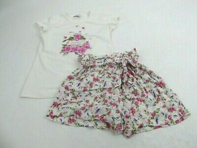Monnalisa Girls Floral T-shirt & Shorts Co-ord Outfit Age 10