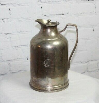 Elle ~ Grand Silver Co ~ Wear Brite Nickle-Silver Insulated Pitcher ~ 9""