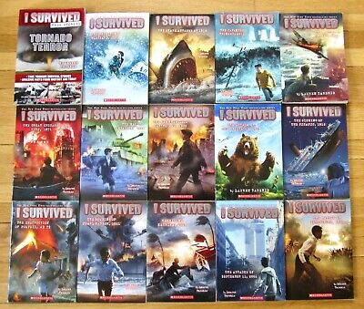 Lot 15 I SURVIVED Series Lauren Tarshis Blizzard Grizzlies D-Day Tornado 9/11 L2