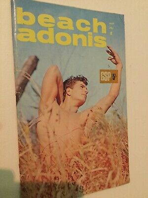 Rare Vintage Beach Adonis Bodybuilding Magazine 1966 Gay Interest Vol 1 Nr 3