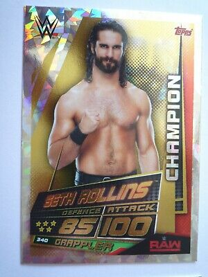 TOPPS WWE SLAM ATTAX UNIVERSE CHAMPION SETH ROLLINS CARD COMB P&Pack