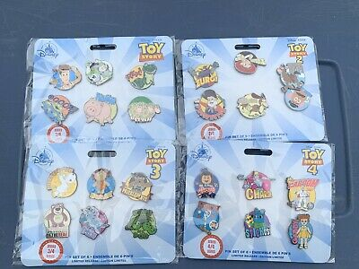 Disney Store Toy Story 1 2 3 4 Limited Release Pins Sets COMPLETE 24 Pins LOT