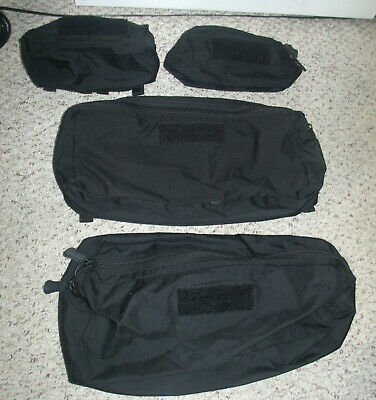 Lot of 4 SO Tech Molle Medical Pouches (2) X-Large & (2) Med from RAMMP System