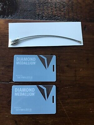 Brand-new Delta Diamond Medallion Tags (Set Of 2) with Metal Ties