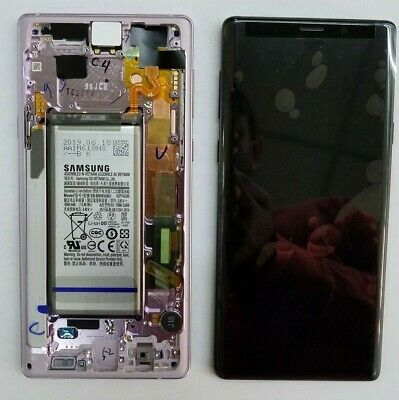 Samsung Galaxy Note 9 N960U LCD Screen Touch Digitizer  Frame Replacement Purple