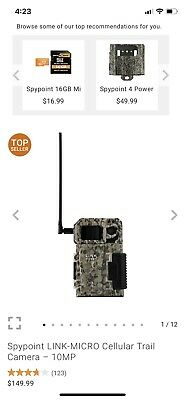 SpyPoint Link-Micro VZN Cellular Trail Camera 10mp Ships Free