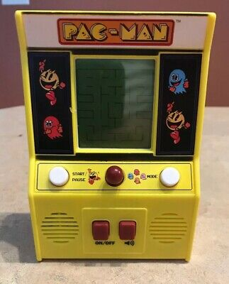 Pac Man Handheld Electronic Mini Arcade Game 09521 Battery Operated Works