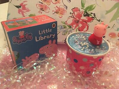Children's Bath Bomb Duo Inspired By Peppa Pig In A Puddle With Book Set
