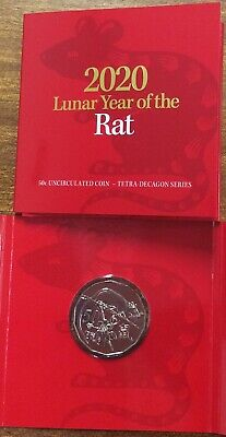 2020 50 cent Lunar year of the Rat