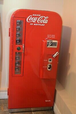 1950's Vendo V81 Coca-Cola Coke Machine restored glass door refrigerator beer