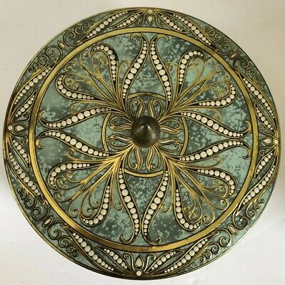 Vintage Turquoise/Blue/Gold/White Tin Made In England