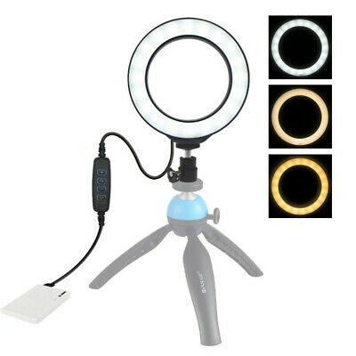 Dimmable LED Studio Camera Ring Phone Video Light Lamp Selfie Stick Ring Table r