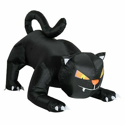 4ft Halloween Airblown Inflatable Black Cat Led Lighted Outdoor Yard Decorations
