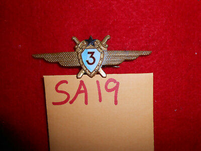 SA19 old Soviet fighter pilot wings badge 3rd class