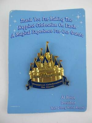 Disney Cast Member Thank You Happiest Celebration on Earth Castle Award 2005 Pin