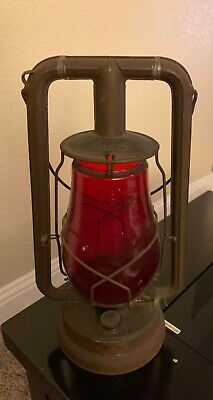 Antique Dietz lantern red glass