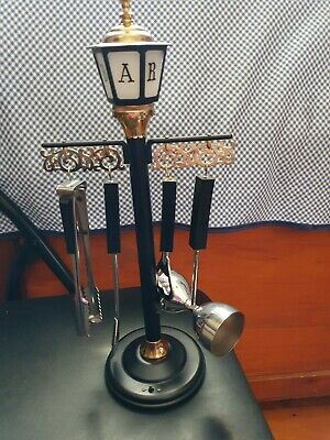 Bar Lantern Stand With Tools And Bar Light.