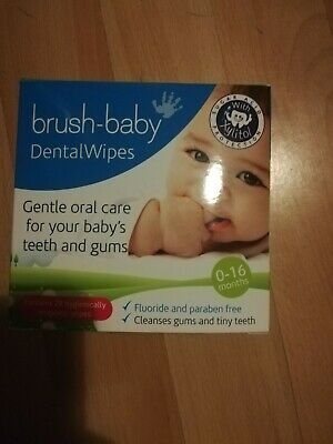 Brush Baby Dental Wipe Sleeve 0-16 Months ( almost full box - used one)