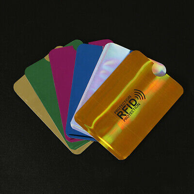 10Pcs Credit Card Protector Secure Sleeve Blocking Shielded  ID Holder Case Acc