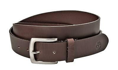 Timberland Mens 1.25 Inches Leather Dress Belt Brown