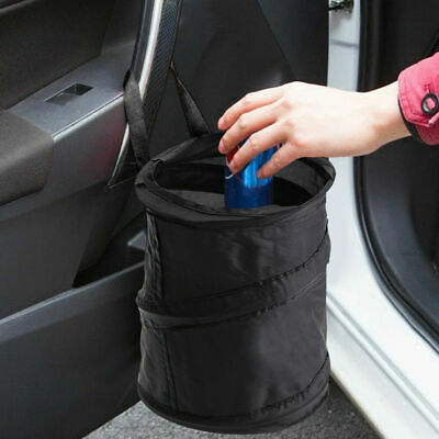 Pop-up Leak Proof Collapsible Car Garbage Bin Trash Can Auto Ash-bin Black Bag