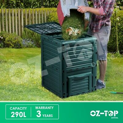 Compost Bin 290L Kitchen Food Waste Recycling Composter Garden Composting