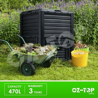 Compost Bin Kitchen Garden Composting 470L Food Waste Recycling Composter