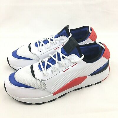 PUMA R SYSTEM RS 0 Sound White Red Blue Athletic Sneakers