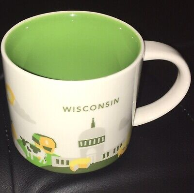 Starbucks Wisconsin 2015 YAH You Are Here Collection Collectible Mug No Chairs