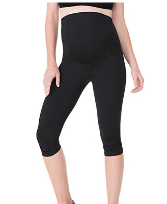 NWT Ingrid & Isabel Women'S Maternity Activewear Capri Leggings Crossover S-L